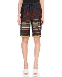 Dries Van Noten Rainbow-Striped Shorts - For Women - Lyst