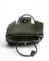 Mulberry - Pheasant Green Pebbled Leather Top Handle Satchel - Lyst