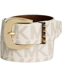 Michael Kors Michael Studded Loops Signature Pant Belt - Lyst
