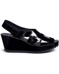 Pedro Garcia | 'fernanda' Patent Leather Platform Sandals | Lyst