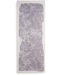 Halston Heritage Purple Printed Scarfplum - Lyst