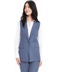 Banana Republic | Chambray Lightweight Wool Vest | Lyst
