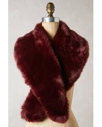 Anthropologie Purple Faux-fur Stole - Lyst