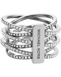 Michael Kors - Pavã© Criss-cross Ring - Lyst