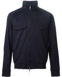 Giorgio Armani Zip Front Jacket - Lyst
