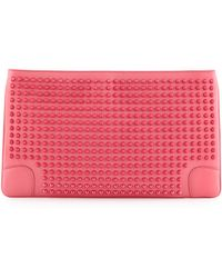 Christian Louboutin Loubiposh Spikes Clutch Bag - Lyst