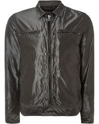 Diesel Zip Up Double Pocket Nylon Jacket - Lyst