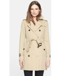 Burberry London Women'S 'Kensington' Double Breasted Trench Coat - Lyst