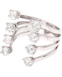 Delfina Delettrez White-diamond  White-gold Ring - Lyst