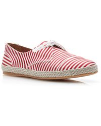 Tabitha Simmons Dolly Striped Silk Espadrilles red - Lyst