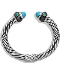 David Yurman Renaissance Bracelet with Turquoise and Green Onyx - Lyst