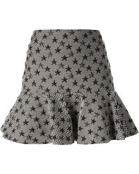 Valentino Star Embroidered Skirt black - Lyst