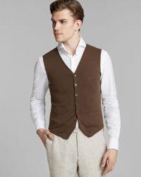 Kent And Curwen Knit Cotton Vest - Lyst