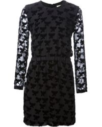 Band Of Outsiders Black Layered Dress - Lyst