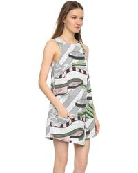 Opening Ceremony - Perspective Pools Utility Romper - Blush Pink Multi - Lyst