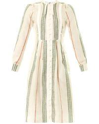 Altuzarra Cherry Blossom Silk Shirt Dress green - Lyst