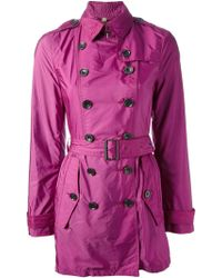 Burberry Brit Double Breasted Trench Coat - Lyst