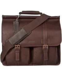 Kenneth Cole Reaction Colombian Leather Dowel Rod Double Gusset Laptop Brief brown - Lyst