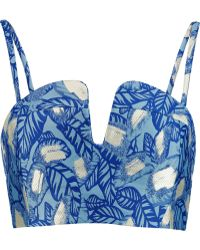 Opening Ceremony - Jacquard Bustier - Lyst