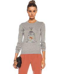 Markus Lupfer Prize Fish in A Bag Sequin Grace Merino Wool Jumper - Lyst