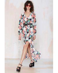 Nasty Gal Ella Floral Maxi Dress - Lyst
