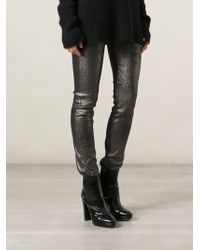 Haider Ackermann Cracked Effect Leggings - Lyst