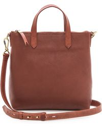 Madewell Mini Cross Body Transport Tote - Lyst