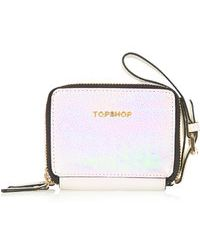 Topshop Pearly Double Boxy Purse - Lyst