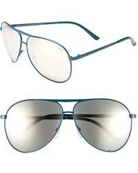 Marc Jacobs Women'S 'Signature' 62Mm Metal Aviator Sunglasses - Teal - Lyst