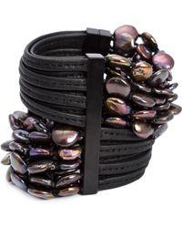 Monies - Multi Beaded Strands Bracelet - Lyst