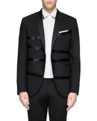 Neil Barrett Irregular Stripe Peak Lapel Blazer - Lyst