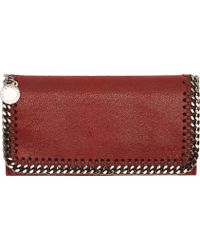 Stella McCartney Burgundy Fallabella Shaggy Deer Wallet - Lyst