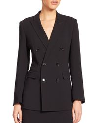 Max Mara Dolly Double-Breasted Stretch Wool Jacket black - Lyst