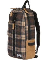 Supe Design Plaid Techno Flannel Backpack - Lyst