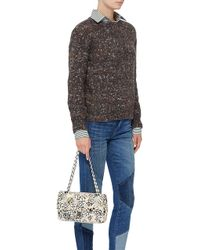 2ef9cdb411e625 Madison Avenue Couture - Runway Edition Chanel Floral Tweed Large Classic  Double Flap Bag - Lyst