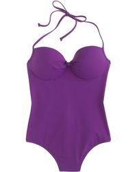J.Crew Italian Matte Knotted Underwire One-Piece Swimsuit - Lyst