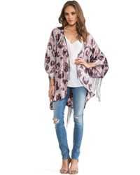 Anna Sui Moonlight Floral Print Kimono - Lyst