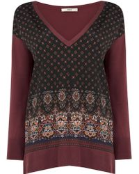 Oasis | Woven Front Top | Lyst