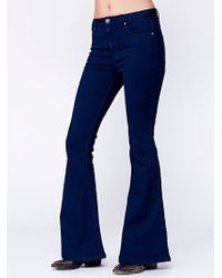 Free People Hi Rise 5 Pocket Flare - Lyst