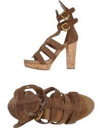 Chloé Khaki Sandals - Lyst