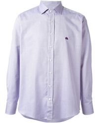 Etro Patterned Striped Shirt - Lyst
