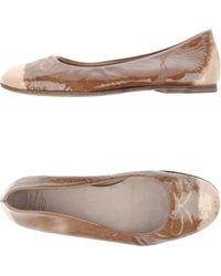 Officine Creative Ballet Flats khaki - Lyst