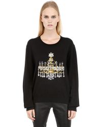Markus Lupfer Chandelier Sequins Cotton Sweater - Lyst