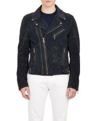 Ralph Lauren Black Label Suede Moto Jacket - Lyst