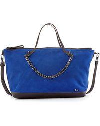 Halston Heritage Two-Tone Satchel Bag blue - Lyst