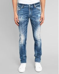 DSquared² Pink Paint Destroyed Cool Guy Jeans - Lyst