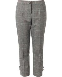 Dolce & Gabbana Prince Of Wales-check Trousers - Lyst