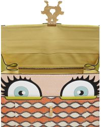 Giancarlo Petriglia | Peggy Eyes Bag Printed Elaphe Bag | Lyst