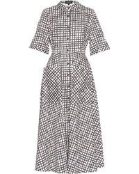 Saloni   Natalie Criss-cross Print Shirtdress   Lyst