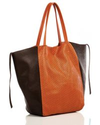 Linea Pelle Sybil Perforated Tote - Lyst